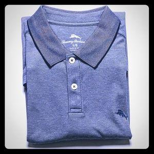 Tommy Bahama Blue Polo Shirt Large NWT Wicking